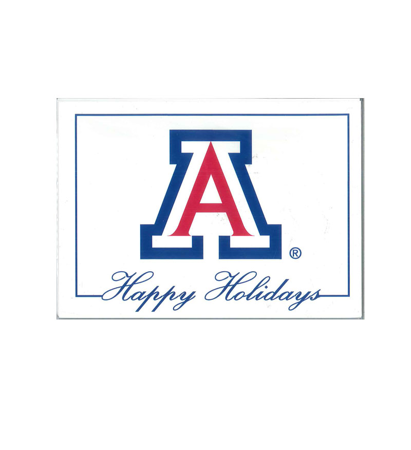 Image For Holiday Cards Arizona Block 'A' Happy Holidays 10 Pack