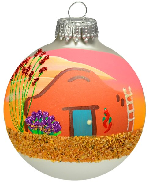 Image For Adobe Sweet Adobe - Handpainted Holiday Ornament