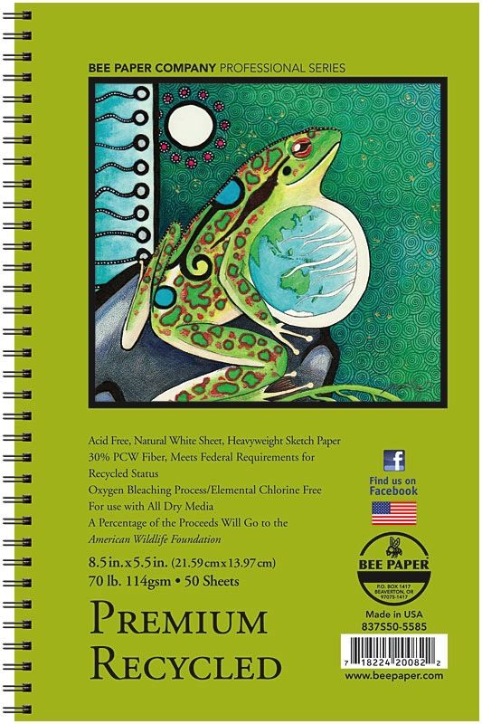 Image For Bee Paper Premium Recycled Sketch Pad