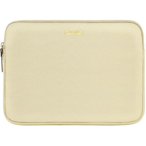Image For Kate Spade New York: Metallic Gold Saffiano Laptop Sleeve
