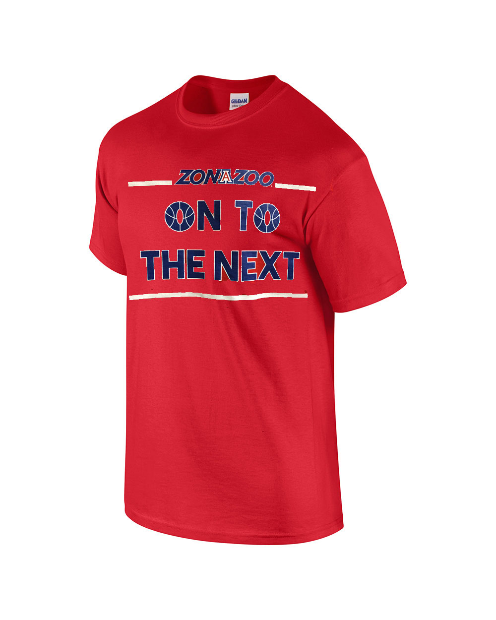 Cover Image For Venley: Zona Zoo ON TO THE NEXT Basketball Red T-Shirt