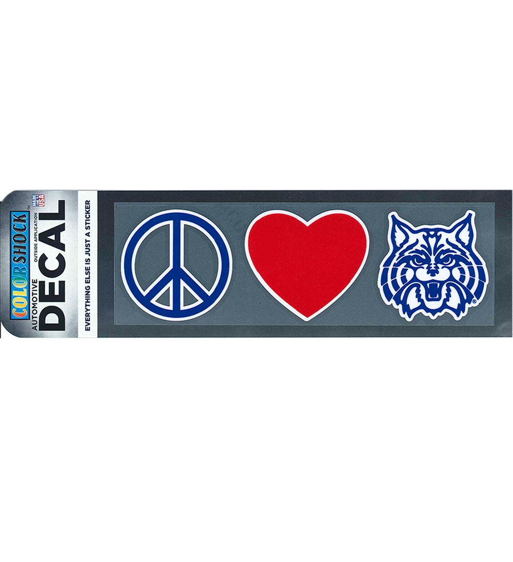 Image For Decal: Peace Heart Wildcat