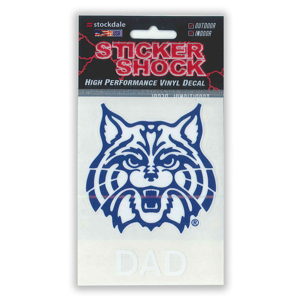 Image For Decal: Arizona Wildcat Face DAD Sticker Shock