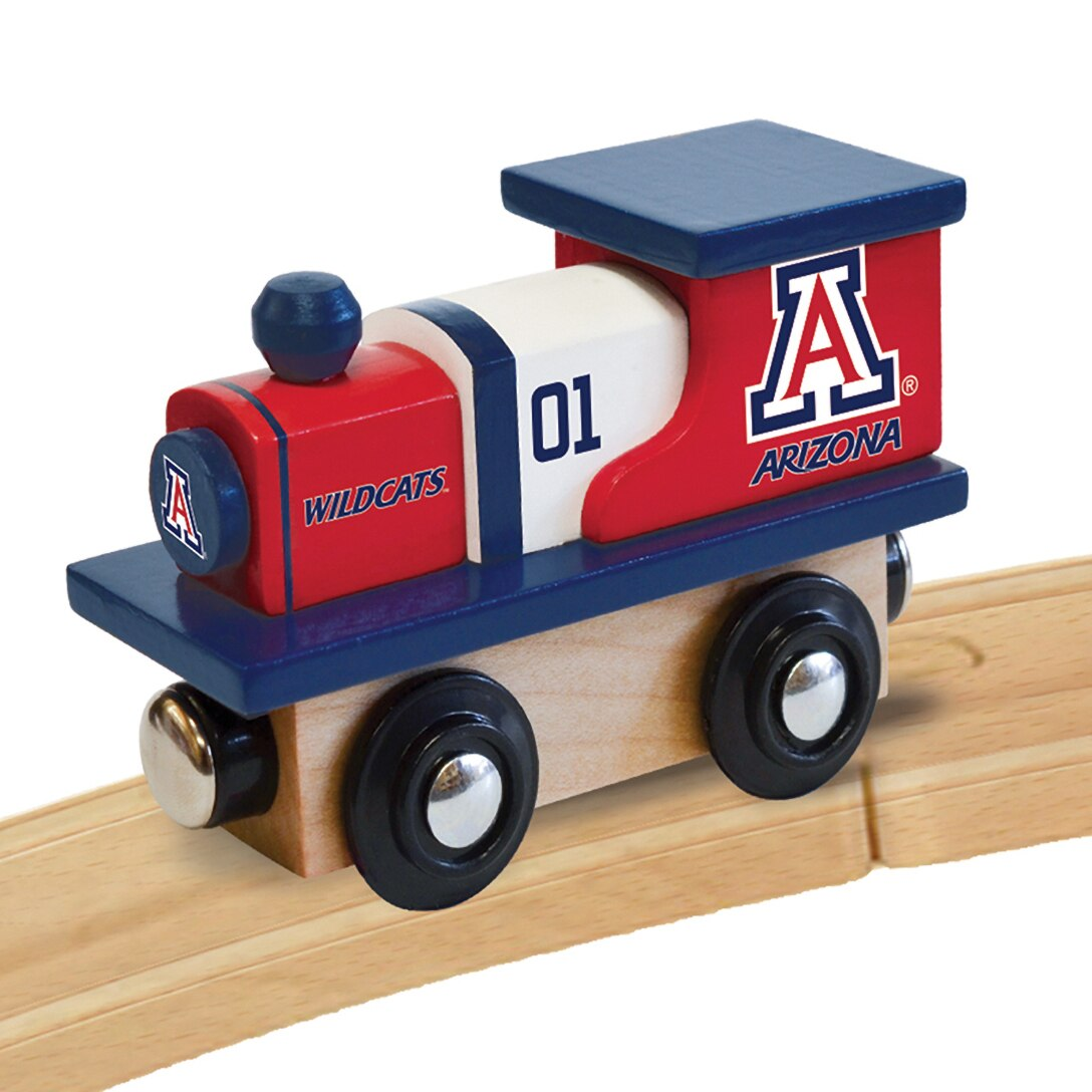 Image For Arizona Wildcats Team Wooden Toy Train