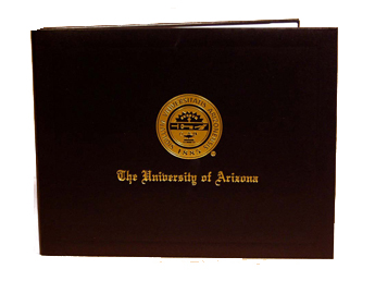 Image For University of Arizona Diploma Navy Cover By Jostens