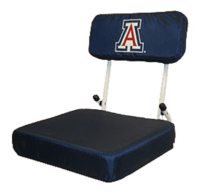 Image For Stadium Seat: 'A' Logo Navy Folding Chair