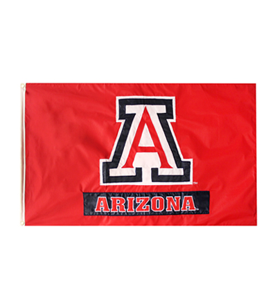 Image For Flag: Arizona Team Logo 3' x 5' Red Flag