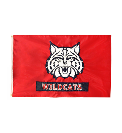 Image For Flag: Red 'Wildcat' Arizona 3x5