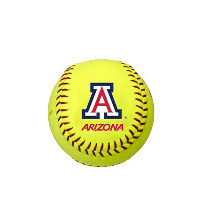 Cover Image For Softball: 'A' Logo 'ARIZONA'<BR>Yellow