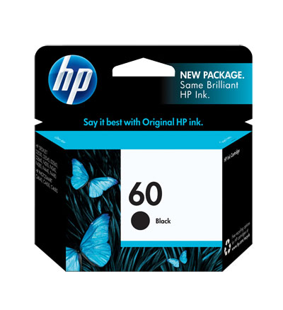 Image For HP 60 BLACK ORIGINAL INK CARTRIDGE