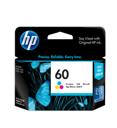 Image For HP 60 TRI-COLOR ORIGINAL INK CARTRIDGE