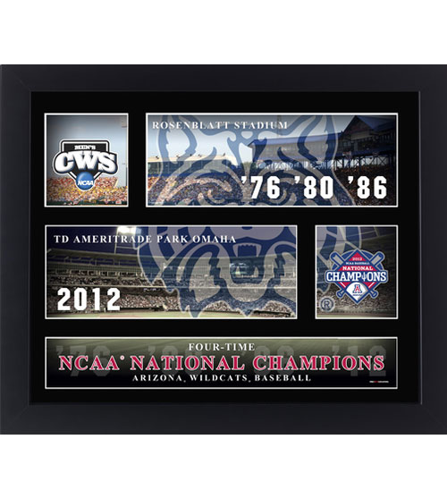 Cover Image For Arizona Four-Time NCAAA National Baseball Champs Frame Print