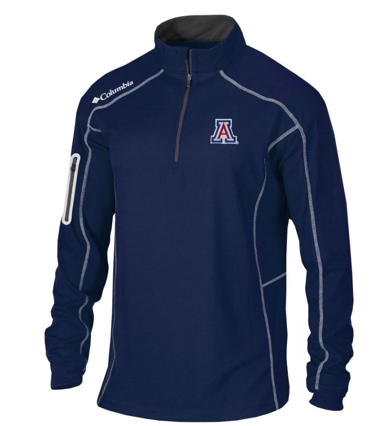 Image For Columbia: Arizona Men's Shotgun Golf Navy 1/4 Zip