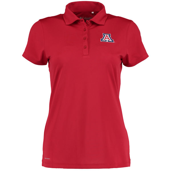 Image For Columbia: Arizona Wildcats Women's Omni-Wick Birdie Red Polo