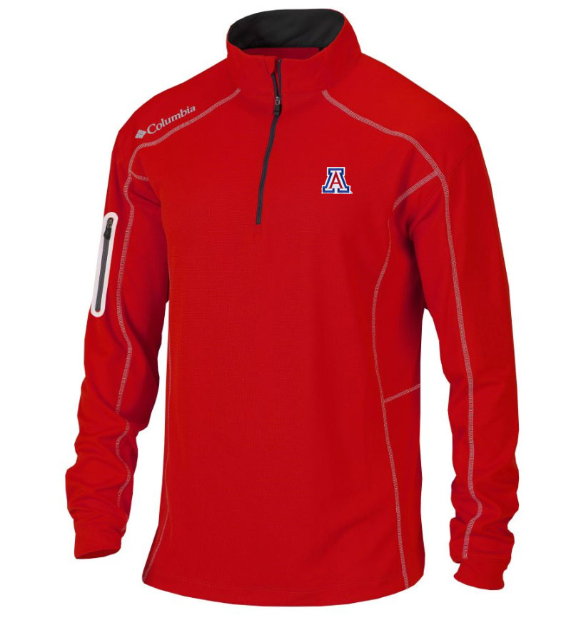 Image For Columbia: Arizona Men's Shotgun Golf Red 1/4 Zip