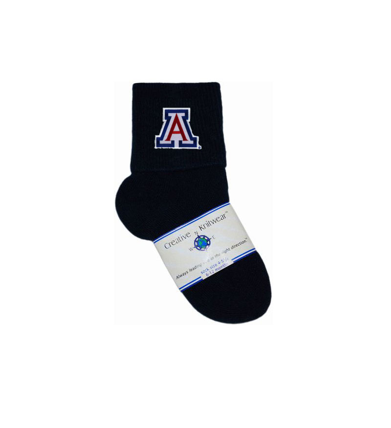 Cover Image For Creative Knitwear: Arizona Infant Anklet Navy Socks