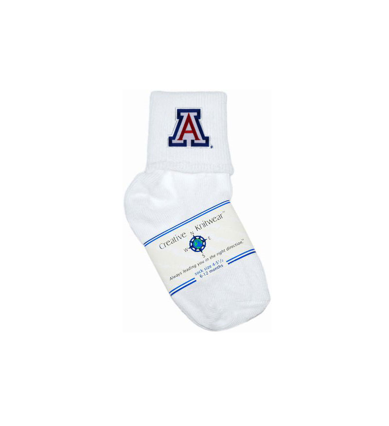 Image For Creative Knitwear: Arizona Infant Anklet White Socks