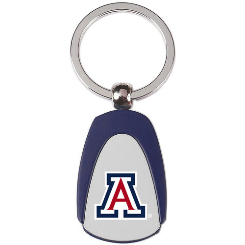 Image For Key Tag: Arizona Logo Metal Tear Drop Navy By Fanatic Group