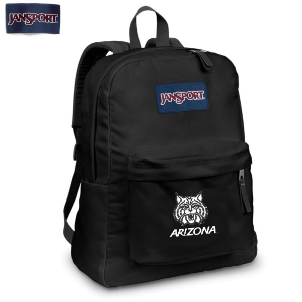 Image For Jansport Superbreak Backpack Arizona Wildcat Face Black