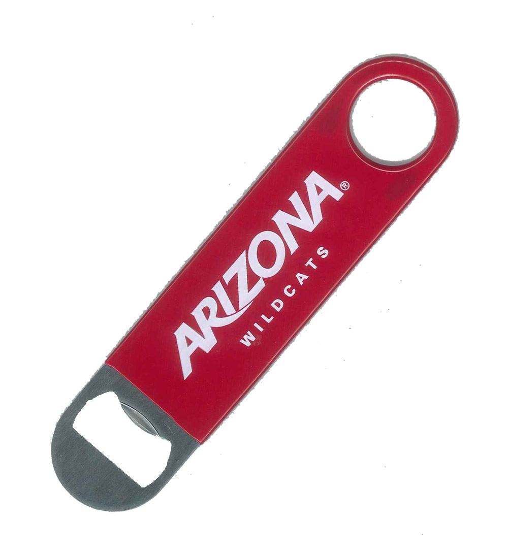 Image For Vinly-Cover Arizona Wildcats Paddle Bottle Opener