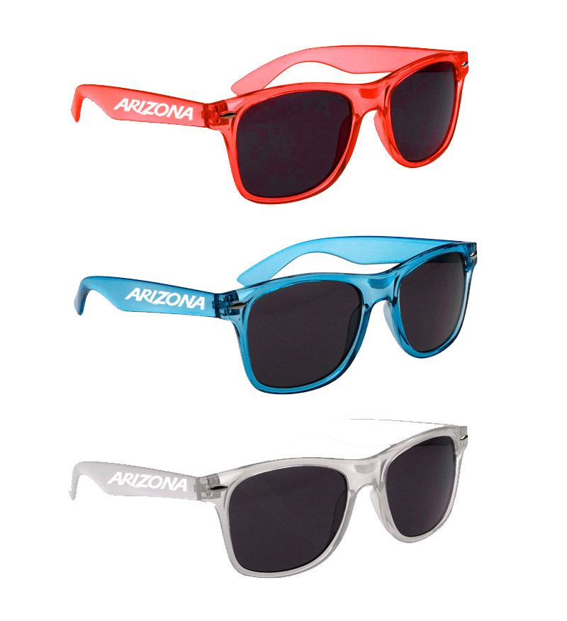 Image For Arizona Malibu Sunglasses with Translucent Frame