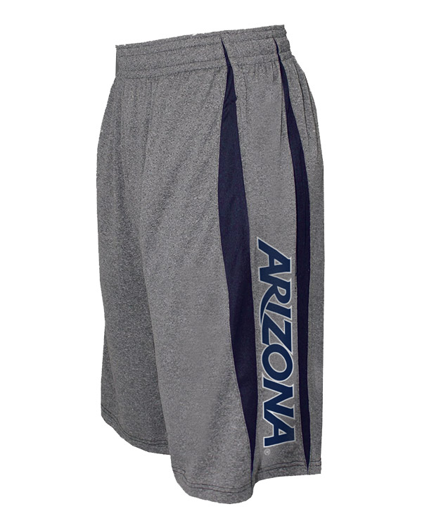 Image For Badger Sport: Ariozna Men's Fusion Short Steel Heather Navy