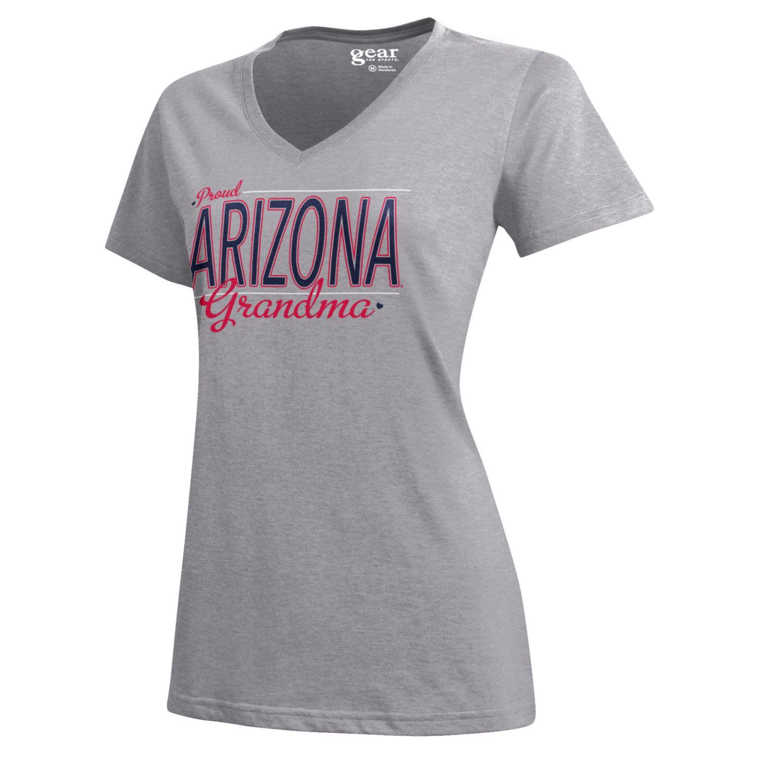 Image For Gear: Arizona PROUD GRANDMA Mia V-Neck Tee-Oxford Heather