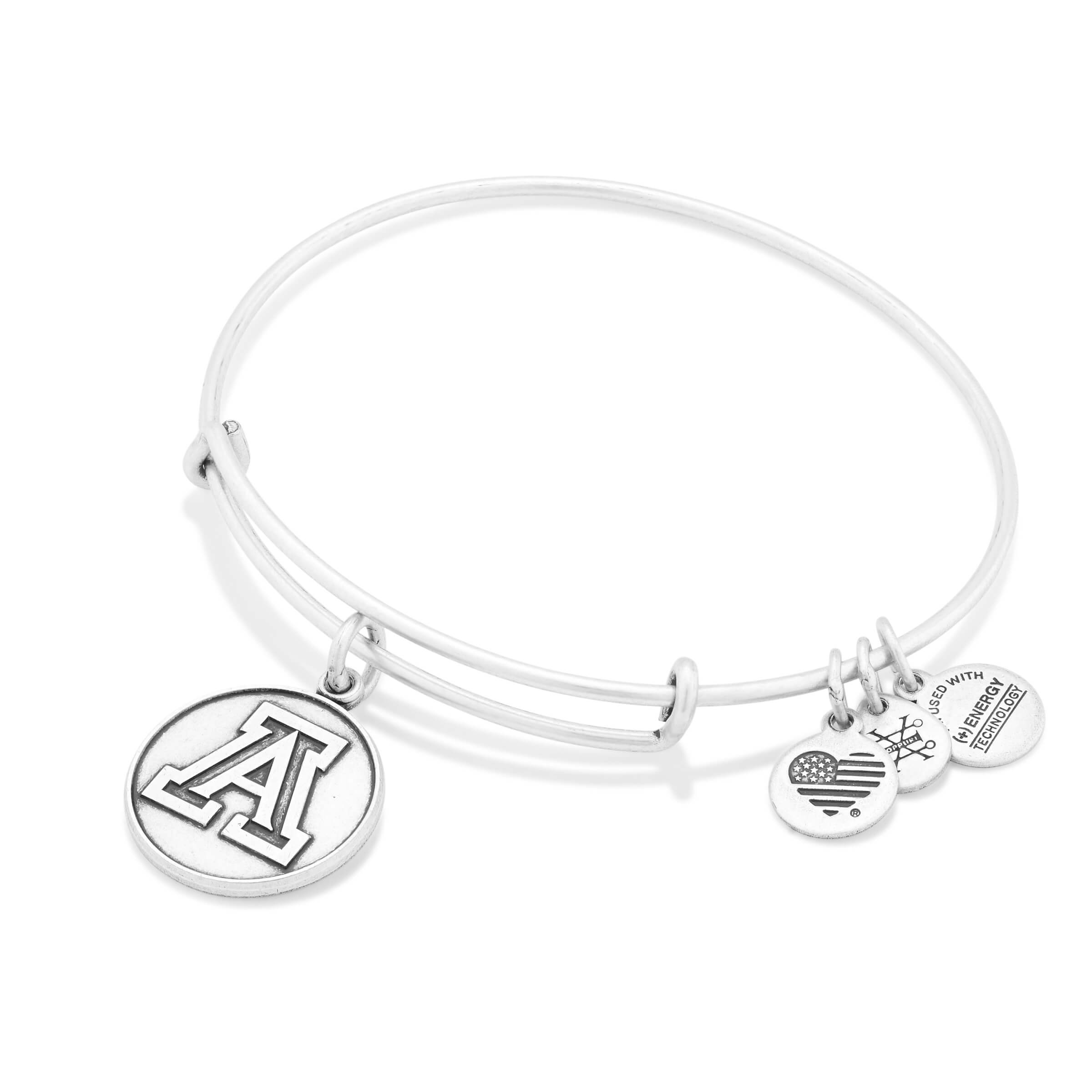 Image For Alex and Ani: University of Arizona Charm Bangle Silver