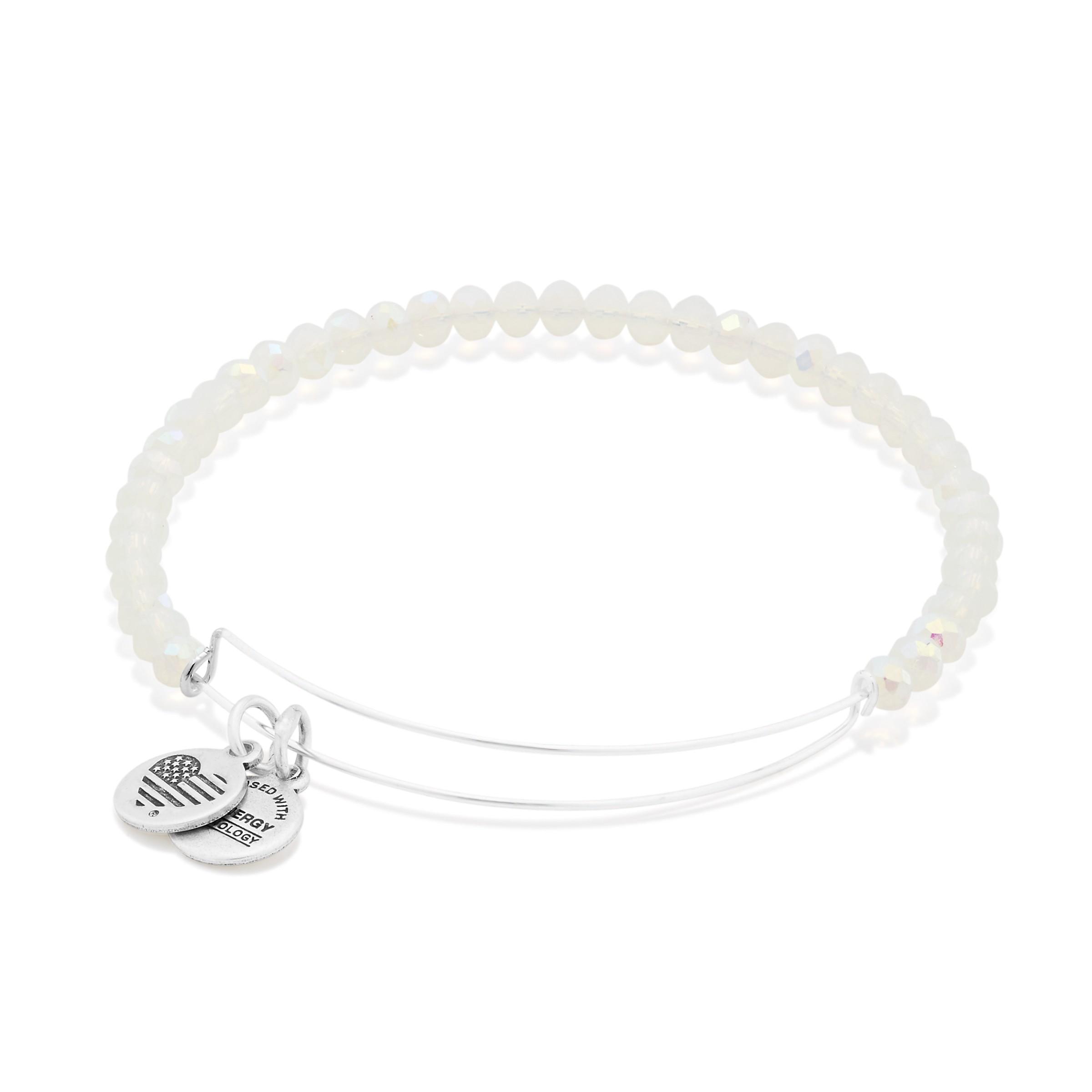 Image For Alex and Ani: Moonlight Brilliance Beaded Bangle Sliver
