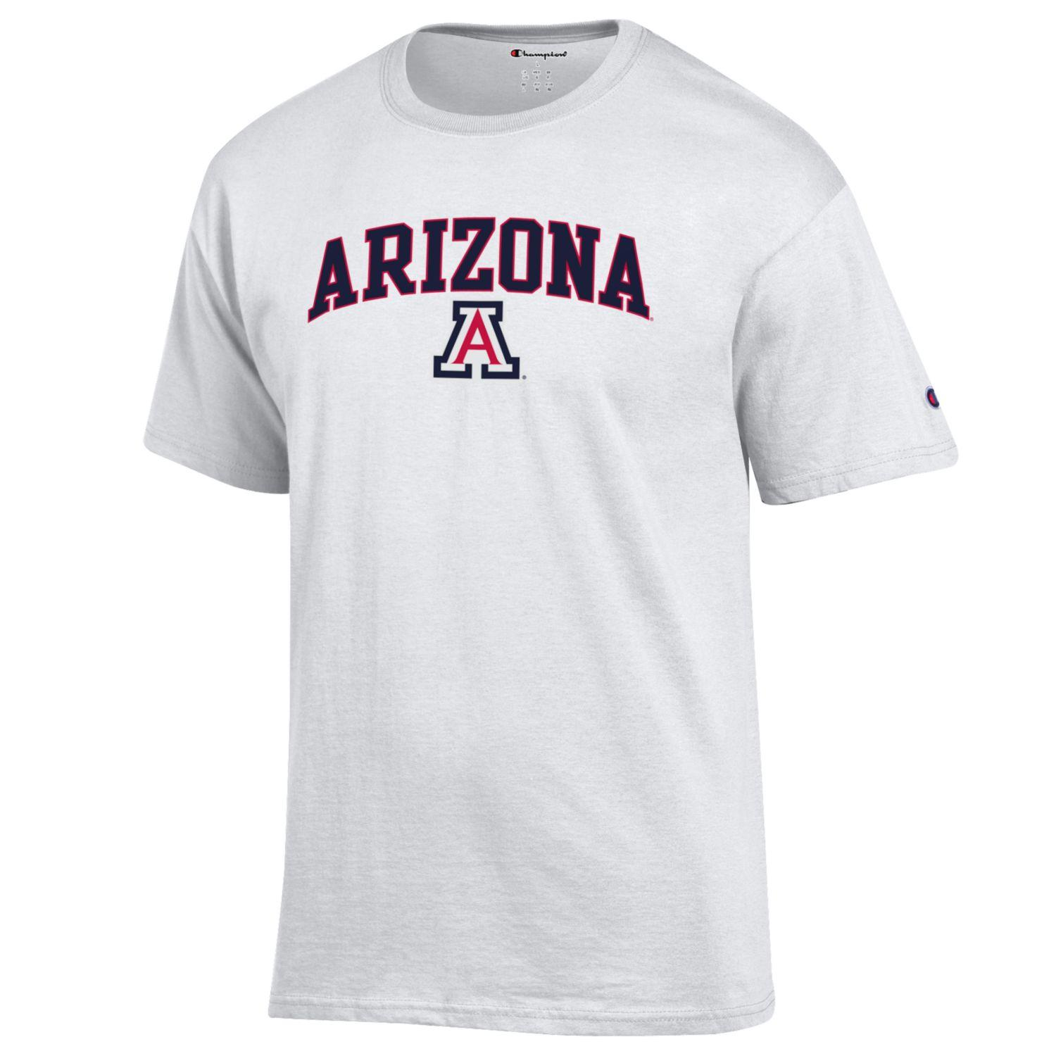 36dacc7ca6fd Champion: Arizona Arch Logo Core Tee - White