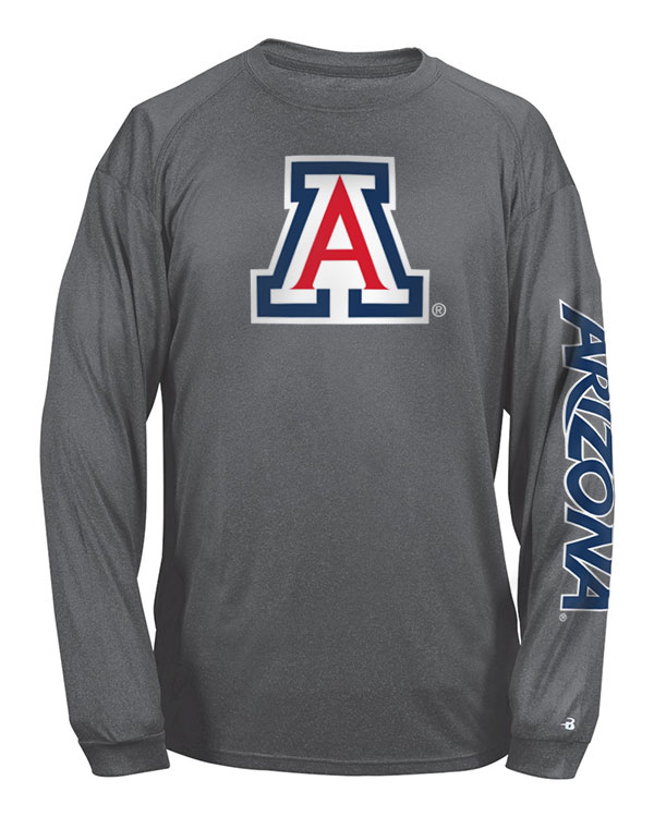 Image For Badger Sport: Arizona Pro Carbon Heather Long Sleeve Tee