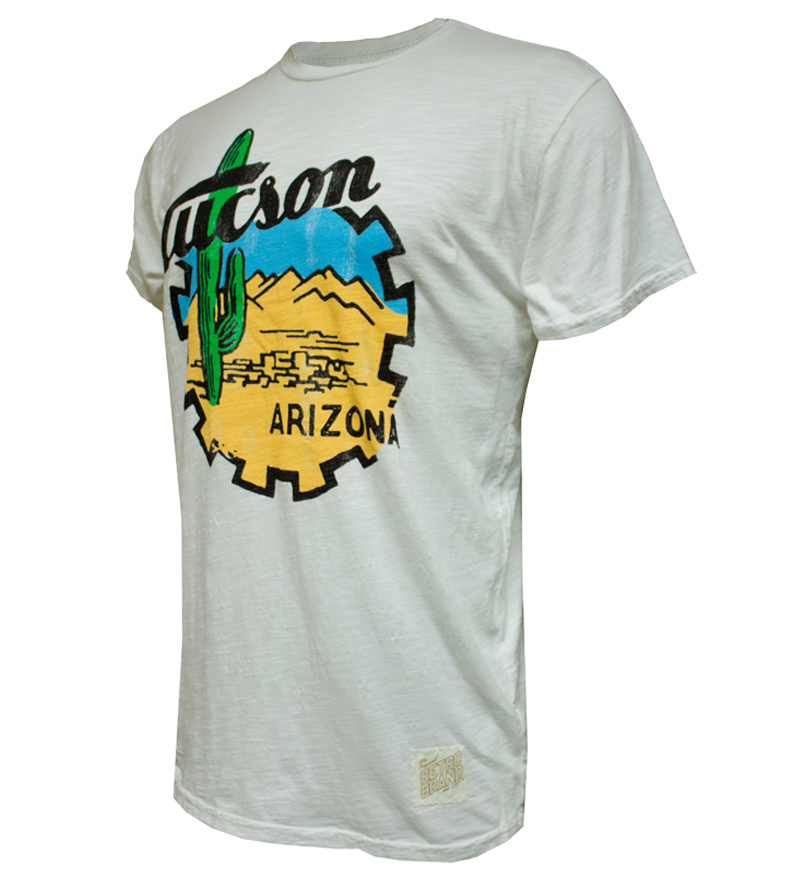 Image For Retro Brand: Tucson Arizona Tee White