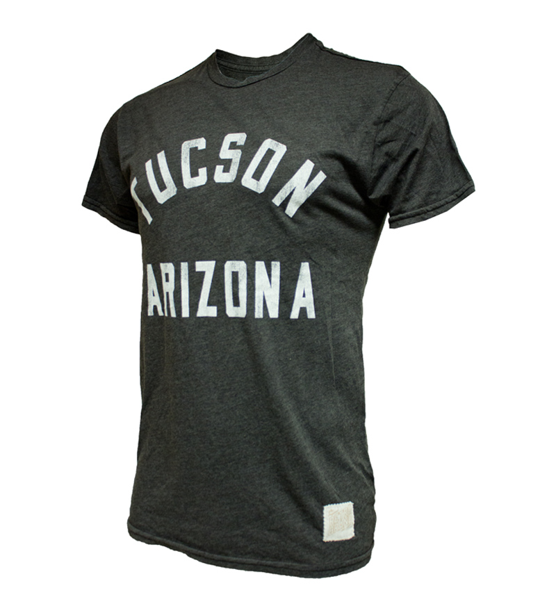 Image For Retro Brand: Tucson Arizona Tee Charcoal