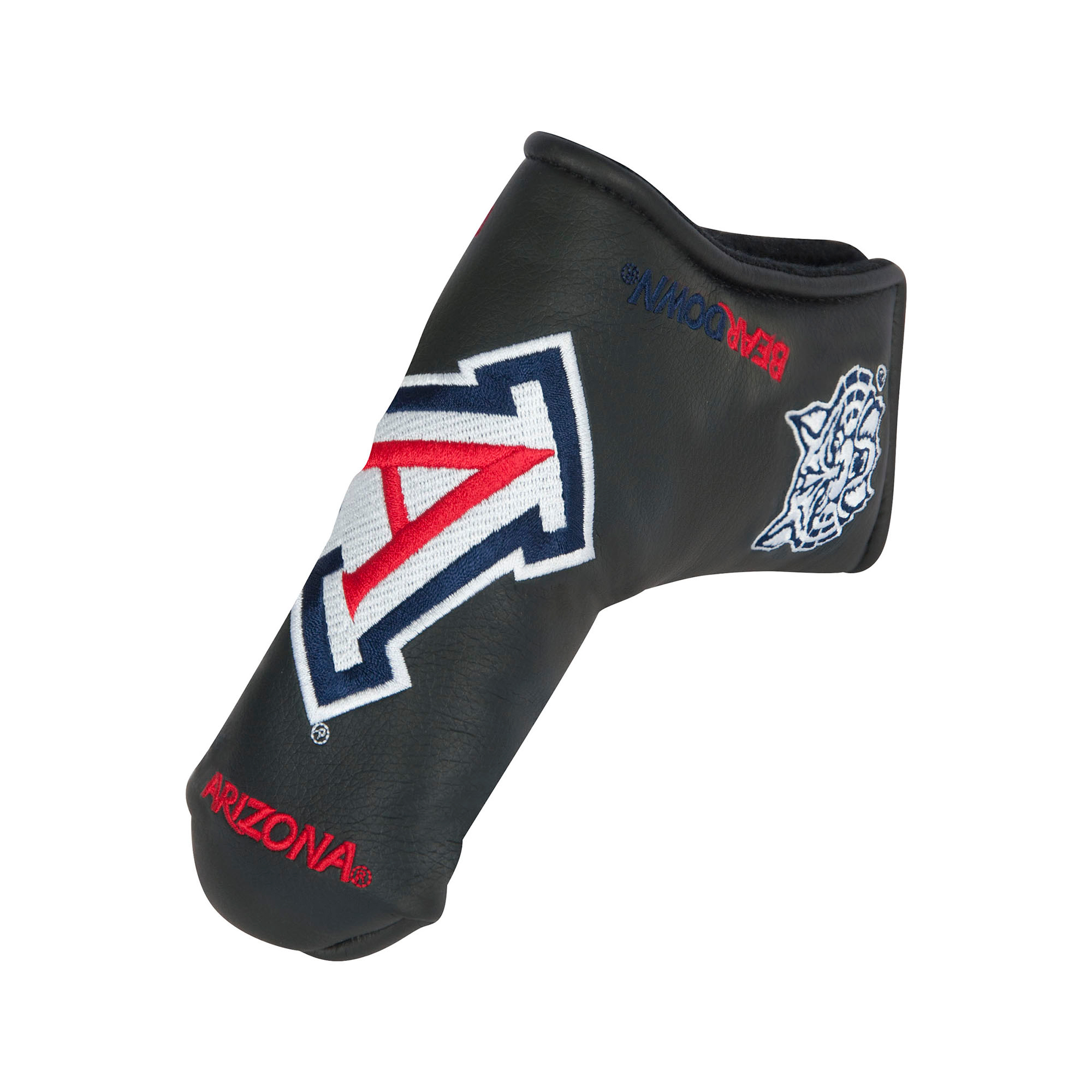 Image For Team Effort: Arizona Bear Down Black Blade Putter Cover Head