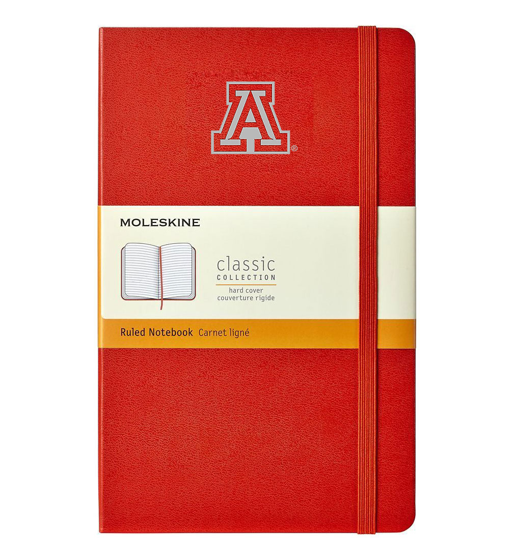 Image For Moleskine: Arizona Team Logo Classic Ruled Notebook-Red
