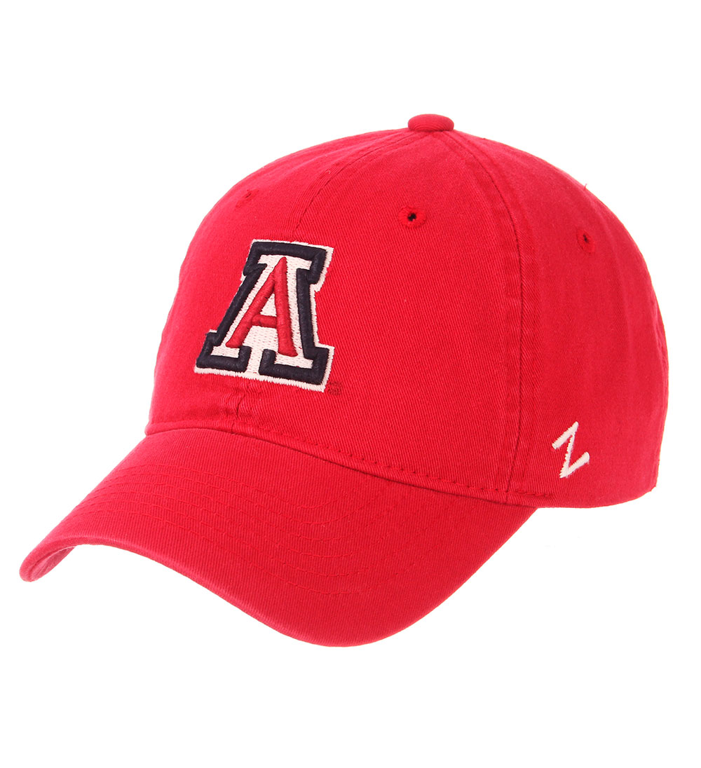 Image For Zephry: Arizona Team Logo Scholarship Cap Red Washed