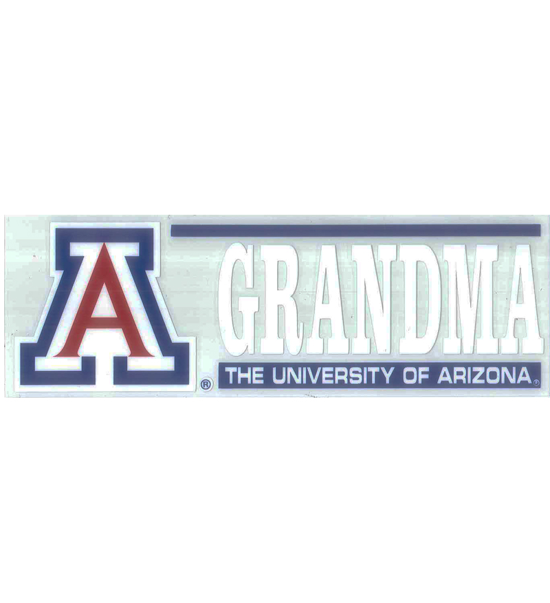 Image For Decal: The University of Arizona Grandma Auto Decal