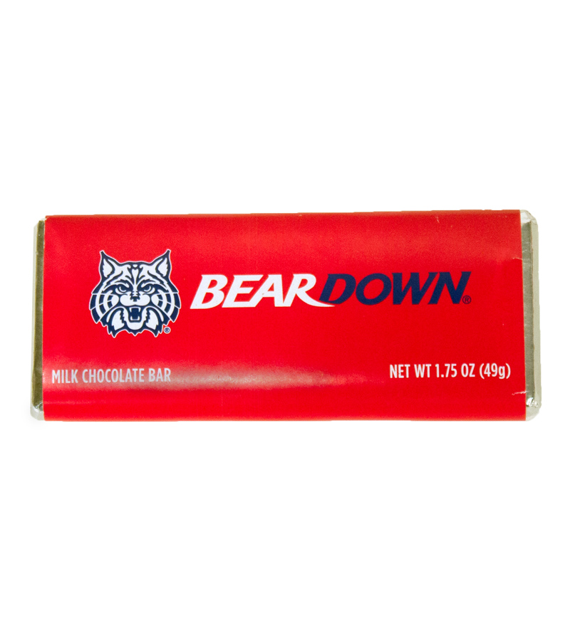 Image For Arizona Wildcats Bear Down Milk Chocolate Bar