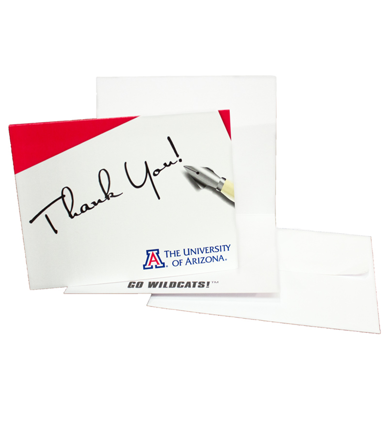 Image For The Fanatic Group: Arizona Wildcats THANK YOU! Cards-10 Pk