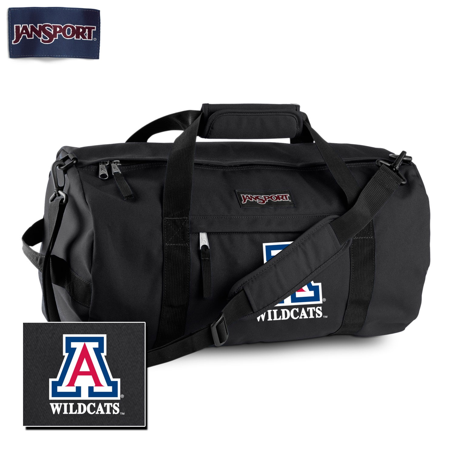 "Image For JanSport: Arizona Wildcats 24"" Sport Duffel-Black"