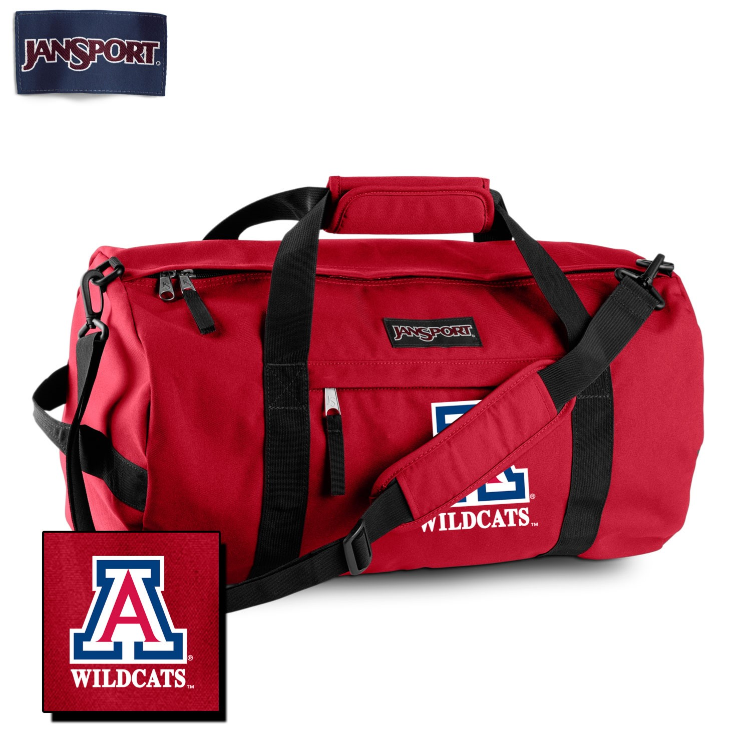 "Image For JanSport: Arizona Wildcats 24"" Sport Duffel-Red"