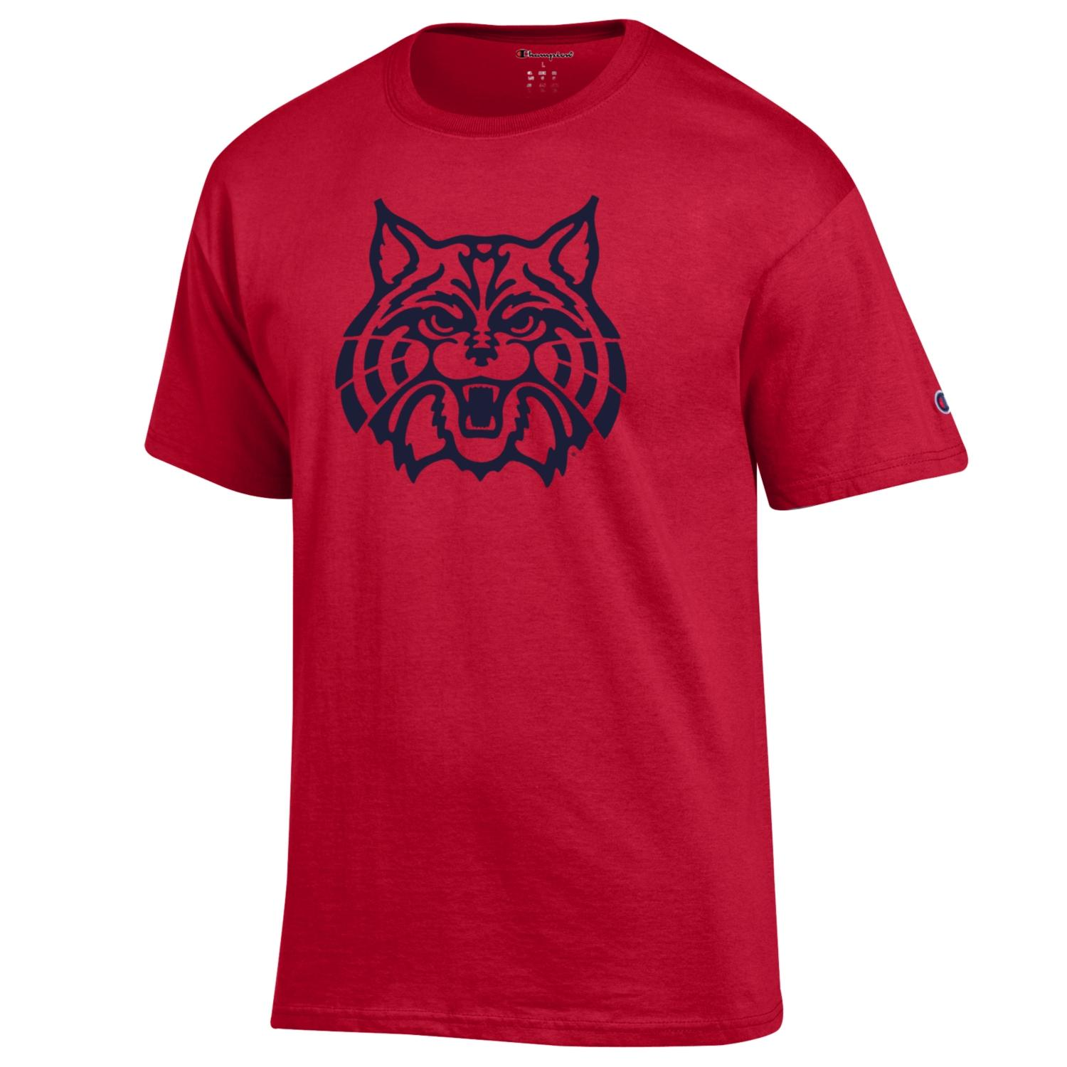 Image For Official Arizona Wear: Wildcat Face Red Tee