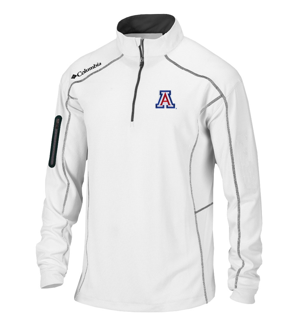 Image For Columbia: Arizona Wildcats Shotgun Golf Quarter-Zip-White