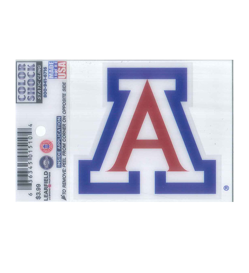 Image For Decal: Arizona Team Logo Static Cling