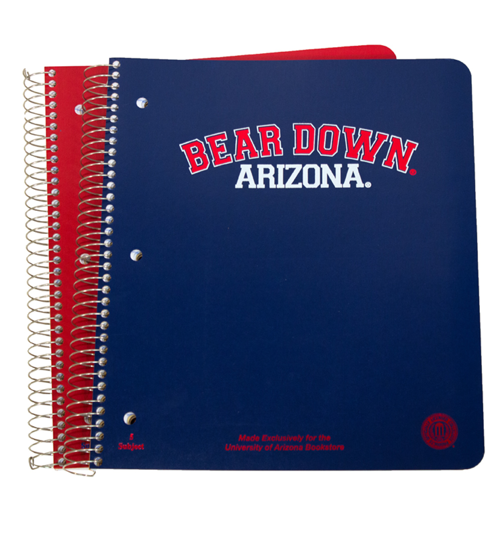 Image For Notebook: Arizona Bear Down 5-Subject