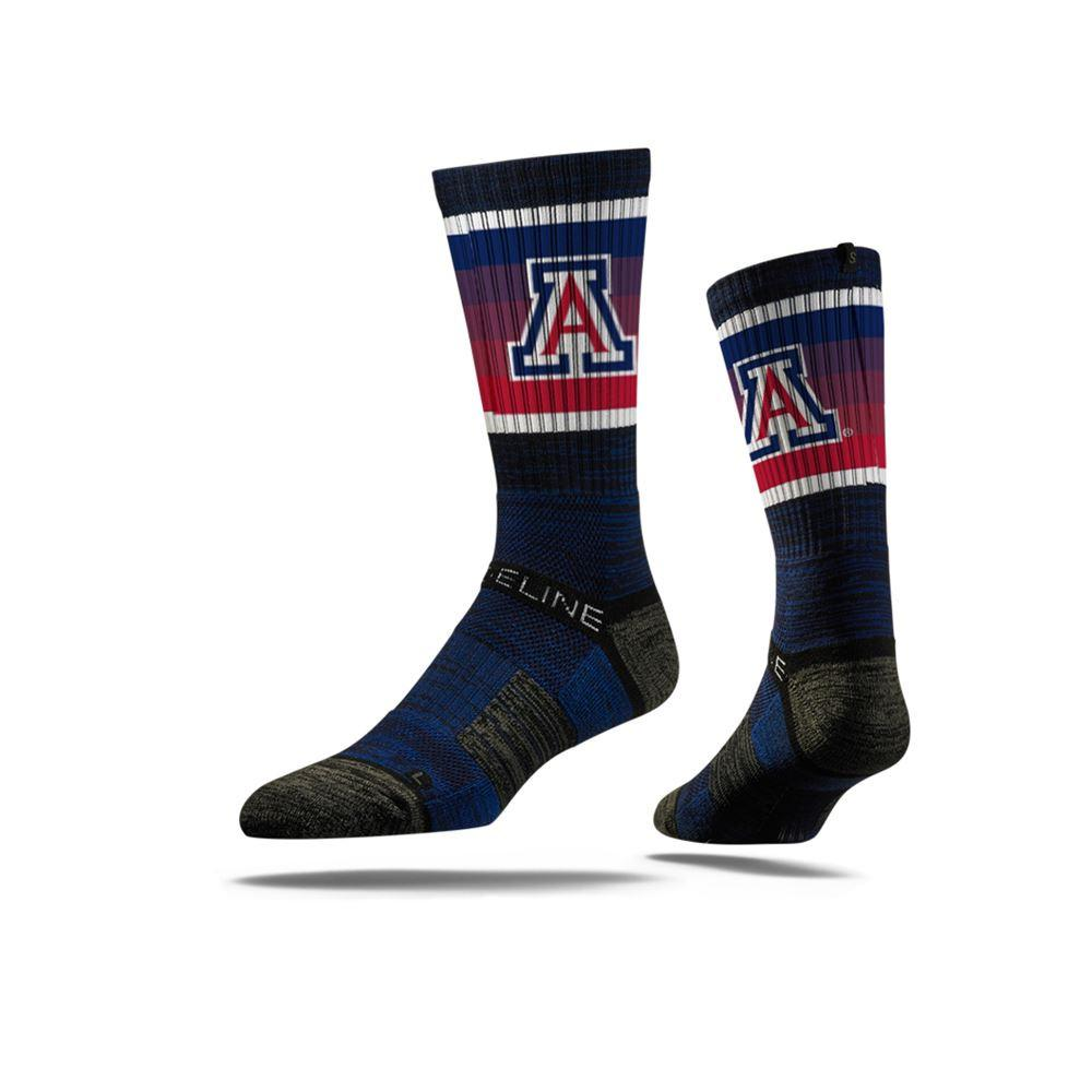 Image For Strideline: Arizona Crew Update Navy Sock