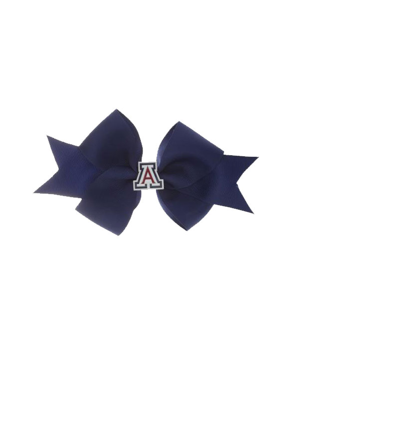Image For RhinestoneU: Arizona Wildcats Enamel Navy Bow Clip Small