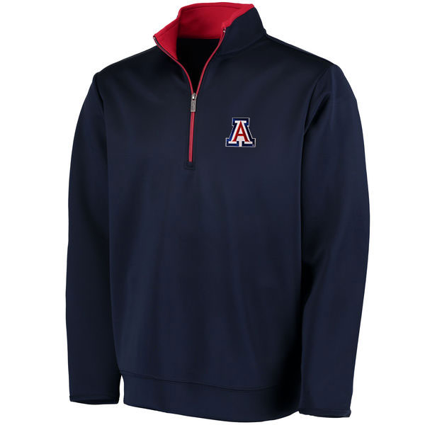 Cover Image For Antigua: Arizona Wildcats Leader Red/Navy Full-Zip