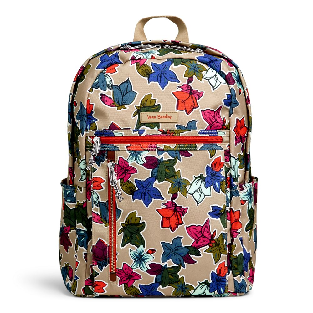 Image For Small Backpack Falling Flowers Neutral