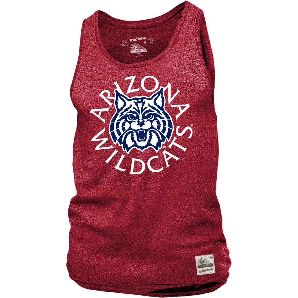 Image For Retro Brand: Arizona Wildcats Mock Twist Tank-Deep Red